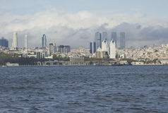 Costantinopoli, costa della città, orizzonte fotografia stock