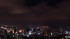 Costantinopoli di notte fotografia stock