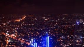 Costantinopoli di notte fotografie stock