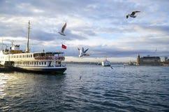 Costantinopoli Ferries (chiamato vapur nel turco) Fotografia Stock Libera da Diritti