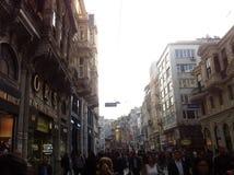 Costantinopoli Istiklal aprile 2014 Fotografia Stock