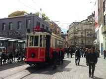 Costantinopoli Istiklal aprile 2014 Fotografie Stock