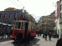 Costantinopoli Istiklal aprile 2014 Fotografia Stock Libera da Diritti