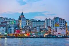 Costantinopoli nella sera Fotografia Stock
