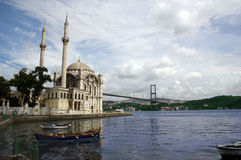 Costantinopoli ortakoy Fotografia Stock Libera da Diritti