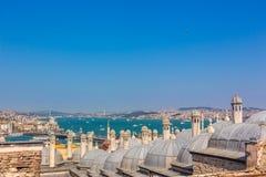 Costantinopoli sopra Suleymaniye Immagini Stock Libere da Diritti