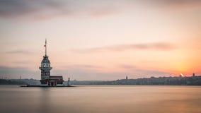 Costantinopoli sul sole giù Fotografia Stock