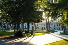 COSTANTINOPOLI, TURCHIA - 21 AGOSTO 2018: vista del parco Gulhane immagini stock libere da diritti