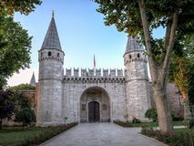 Costantinopoli, Turchia - 23 giugno 2015: L'entrata del palazzo di Topkapi, portone dei saluti, palazzo di Topkapi Fotografia Stock Libera da Diritti