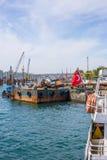 COSTANTINOPOLI, TURCHIA, l'8 maggio 2017 - nuovi Galataport cruis di Istanbul's Immagini Stock Libere da Diritti