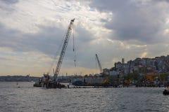 COSTANTINOPOLI, TURCHIA, l'8 maggio 2017 - nuovi Galataport cruis di Istanbul's Fotografia Stock