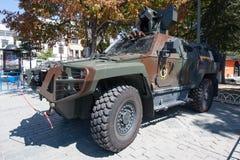 COSTANTINOPOLI, TURCHIA - 2 settembre 2017 Un volante della polizia corazzato nella t Immagine Stock Libera da Diritti