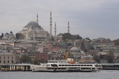 Costantinopoli - veduta dal Bosphorus fotografia stock