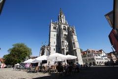Costanza Minster con terrasse in Germania fotografie stock libere da diritti