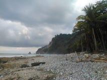 Costarikansk strand arkivbilder
