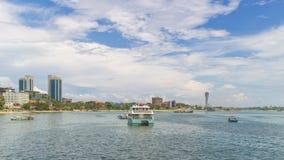 Costas de Dar es Salaam imagem de stock