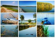 Costas do rio Fotografia de Stock
