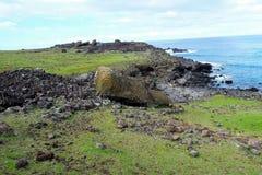 Costas em torno da Ilha de Páscoa Fotografia de Stock Royalty Free