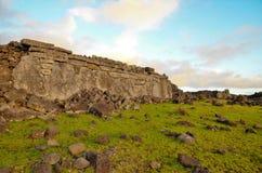 Costas em torno da Ilha de Páscoa Imagens de Stock