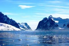 Costas polares na Antártica Imagem de Stock