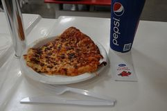 Free COSTCO CHEESE PICE OF PIZZA AND DIET COKE 1.99 US$ Royalty Free Stock Photo - 119522805