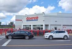 Costco-Großhandelspeicher und -logo lizenzfreie stockfotos