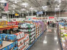 Costco store. Inside a big Costco store Royalty Free Stock Photography