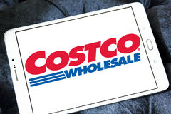 Costco stores logo. Logo of the international chain of convenience stores costco on samsung tablet Stock Images