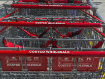 Costco Wholesale carts Stock Photography