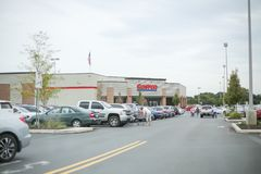Costco Wholesale Corporation is largest membership-only warehouse club in US. stock image