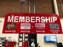 Costco Wholesale Membership Sign.