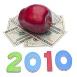 Coste 2010 de cuidado médico o de educación Imágenes de archivo libres de regalías