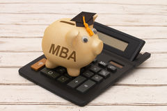 Coste de conseguir MBA fotografía de archivo libre de regalías