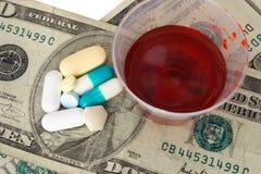Coste de cuidado médico Imagen de archivo libre de regalías