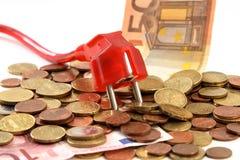 Coste de energía Imagen de archivo libre de regalías