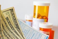 Coste de la medicina Foto de archivo libre de regalías