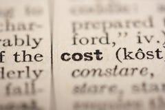 Coste de la palabra fotos de archivo libres de regalías