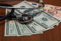 Coste de servicios médicos Foto de archivo libre de regalías