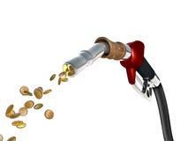 Coste del combustible Imágenes de archivo libres de regalías