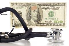 Coste del cuidado médico Fotos de archivo libres de regalías