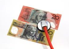 Coste del cuidado médico Fotografía de archivo libre de regalías