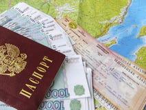 Coste del viaje de Baikal Imagen de archivo