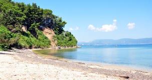 Costee en la isla de Corfú, Grecia, Europa fotografía de archivo libre de regalías