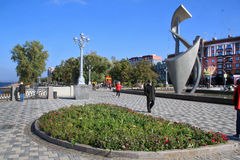 Costeggi nella città della samara, Federazione Russa immagini stock