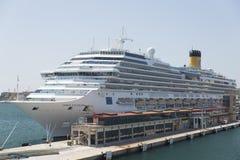 Costela Favolosa do navio de cruzeiros Fotos de Stock Royalty Free