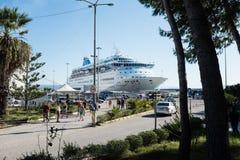 Costela Luminosa do navio de cruzeiros Fotografia de Stock Royalty Free