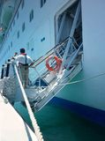 Costela Luminosa do navio de cruzeiros Foto de Stock Royalty Free