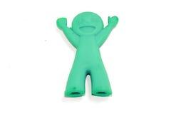 A costeleta azul cola a boneca do suporte Imagem de Stock