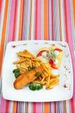 Costeleta da costoleta de De Volaille com fritadas francesas Fotos de Stock Royalty Free