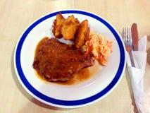 Costeleta da galinha das pimentas pretas Fotografia de Stock Royalty Free